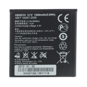 OEM HB5N1H Li-ion Battery 1500mAh for Huawei Ascend G300 G302D U8812D G305T T8828 G309T G330C C8825D Etc