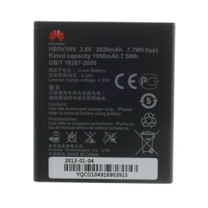 OEM 2020mAh HB5V1HV Li-ion Battery for Huawei Ascend W1