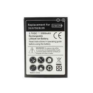 Rechargeable Lithium-ion Battery Replacement 3.7V 3500mAh for Huawei Honor 3X G750 B199
