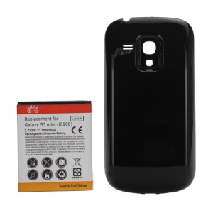 Extended Battery w/ Battery Cover Door for Samsung I8190 Galaxy S III S3 mini 3500mAh;Black