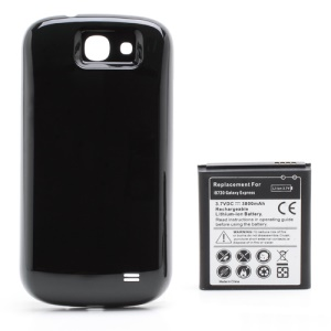3800mAh Thicker Li-ion Battery + Housing Back Cover Replacement for Samsung Galaxy Express i8730 - Black