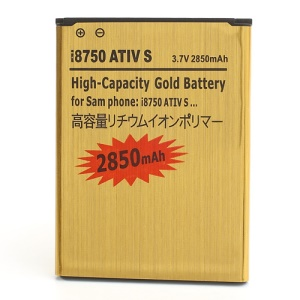 For Samsung Ativ S I8750 Gold Li-ion Battery (2850mAh)