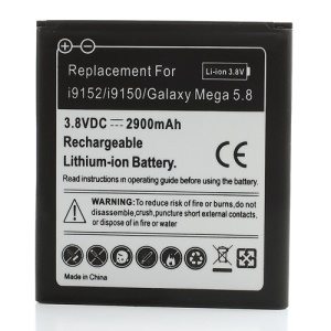 For Samsung Galaxy Mega 5.8 I9152 I9150 Li-ion Battery (2900mAh)