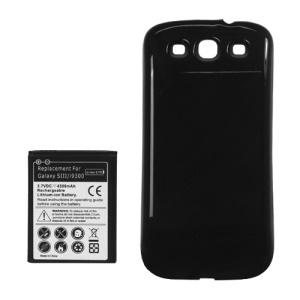 For Samsung i9300 Galaxy S iii Extended Battery with Battery Door Cover 4300mAh - Black