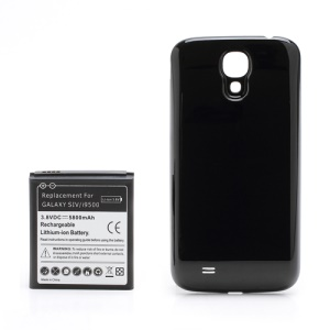 For Samsung Galaxy SIV S4 i9500 Extended Battery with Battery Door Cover 5800mAh - Black
