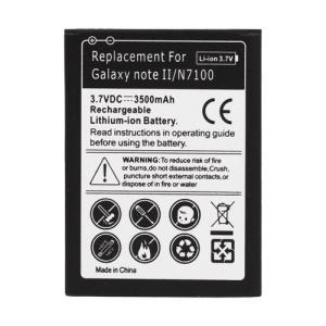 For Samsung Galaxy Note II N7100 Battery Replacement 3500mAh