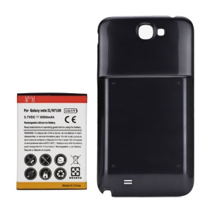 For Samsung Galaxy Note ii N7100 Extended Battery with Battery Door Cover 6500mAh - Grey