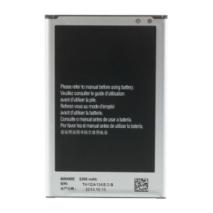 Pour Samsung Galaxy Note 3 N9005 N9002 N9000 Batterie Li-ion Remplacement 3200mAh 3.8V B800BE
