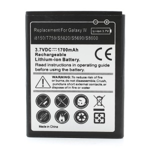 For Samsung Battery Replacement for Galaxy W I8750 / T759 / S5820 / S5690 / S8600 (1700mAh)