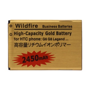 2450mAh High Capacity Replacement Gold Battery for HTC Wildfire G8/HTC Legand G6