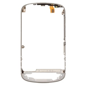 OEM for BlackBerry Q10 Middle Frame Bezel Housing with Side Button Flex Cable Part - White