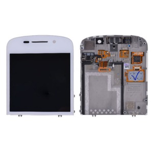 White For BlackBerry Q10 LCD Assembly with Touch Screen Digitizer Replacement (OEM)