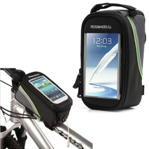 5.5 inch Smart Cycling Bicycle Frame Front Tube Phone Bag Case for iPhone Smartphone MP3;Blue