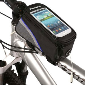 4.2 inch Roswheel Cycling Bike Bicycle Frame Front Tube Bag for iPhone Smartphone MP3 - Blue