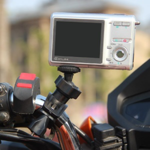 360 Degree Rotating Motorcycle Bike Handlebar Holder for DV Digital Camera