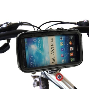 Bicycle Motorcycle Handle Bar Mount with Water Resistant Case for 5.5-6.3 inch Smartphone, Size: 17 x 9cm