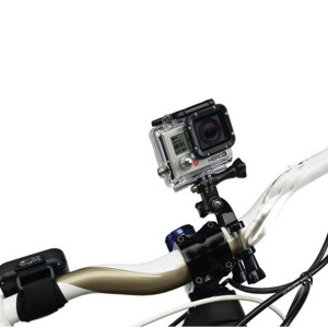 Bicycle Motorcycle Handle Bar Seatpost Mount w/ Three-way Adjustable Pivot Arm for GoPro HD Hero3/2/1