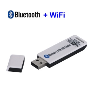 USB 2.0 Bluetooth V3.0 3.0 + WiFi Wireless LAN Card Adapter Dongle 150Mbps