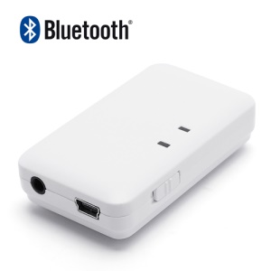 3.5mm Mini USB Wireless Bluetooth Audio Music Receiver for iPhone iPad Bluetooth Cell Phone Bluetooth PC - White