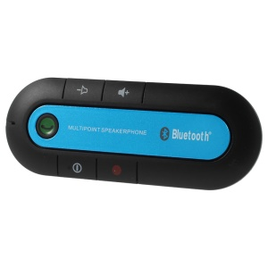 Blue Portable Sunvisor Bluetooth Speakerphone Hands-free Car Kit for iPhone iPad Samsung Sony LG