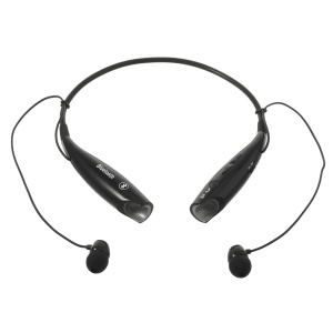 HV-800 Wireless Bluetooth Music Sports Stereo Headset Headphone Vibration Alert on Call - Black