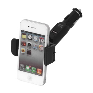 Universal Smartphone Car Mount with 5V 1.5A USB Port for iPhone BlackBerry HTC Samsung Nokia Motorola LG etc