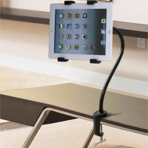 Full Rotating Metal Gooseneck Desktop Mount Holder for iPad 4 3 2 / iPad Mini 4 3 2 / Samsung Tabs Etc.
