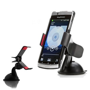 Universal Clipper Car Swivel Mount Holder for Mobile Phone / GPS / PDA / PSP / MP3 - Black