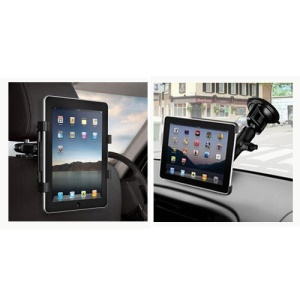 2 in 1 Multi-functional Windshield Suction Mount & Car Back Seat Headrest Mount Holder for iPad 3 4 For Samsung Galaxy Note 10.1 N8000