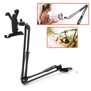 Universal 360 Degree Rotation Metal Telescopic Mobile Rack para iPad e 7 ~ 10.1-Polegadas Tablet PC, elevação: 830mm