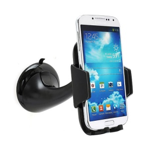 Latest Universal In Car Suction Cup Holder Mount for iPhone iPod Samsung HTC LG Nokia GPS etc - Black