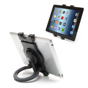 Black Universal Tablet 360 Rotary Stand Hanging Handheld Mount for iPad Mini iPad 4 3 2 7~10inch Tablet