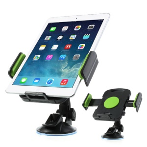 Green Universal 360 Degree Rotating Car Holder for 7-11 inch Tablet, width: 92mm-205mm