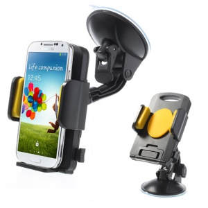 Yellow Universal 360 Degree Rotating Car Holder for 4.3-7.8 inch Smartphones Tablet, width: 58-125mm