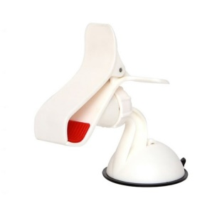 Oyster White 360 Rotary Universal Clamp Car Mount Holder for iPhone Samsung Sony LG GPS PDA Etc, Max Width: 9.5cm