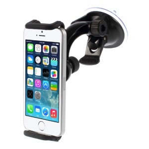 Universal 360 Swivel Suction Cup Car Mount Cradle Holder for iPhone SE 5s 5c Samsung Galaxy S5 Nokia XL, Length: 116 ~ 166mm