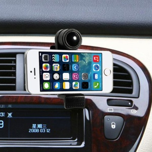 SK078B Universal 360 Degree Rotation Car Air Vent Phone Mount Holder, Range: 52-94mm