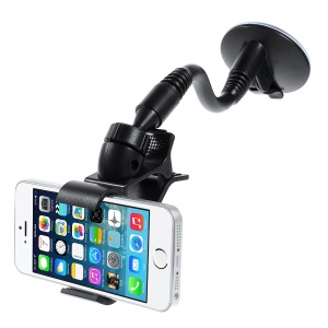 120mm Swivel Clip Snake Neck Car Mount Suction Holder for iPhone 5 4 Samsung S5 GPS PDA