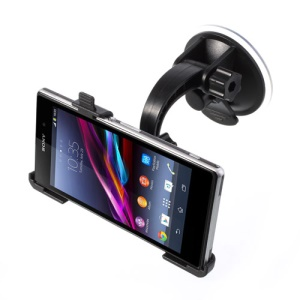 360 Degree Rotating Windshield Car Mount Suction Holder for Sony Xperia Z1 C6903 L39h