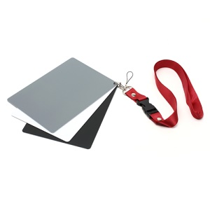 3 in 1 Digital Gray Card White Balance Tool with Strap, 175mm x 120mm