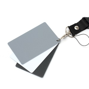 3 in 1 Digital Gray Spectrally Neutral Card with Strap White Balance Tool