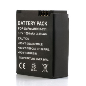 1050mAh Rechargeable Battery for GoPro HERO3 Camera AHDBT-301