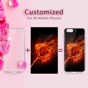 Customized TPU Phone Case for iPhone 6s 6 4.7 Create Your Own Style Cover with Embossment Workmanship