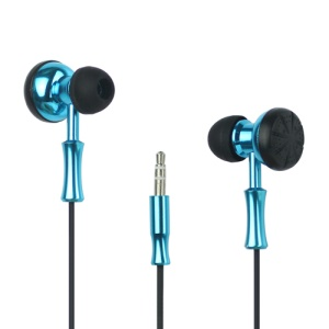 Plating Double Sided In-ear Headphone for Mobile Phones / MP3 / MP4 and etc - Blue