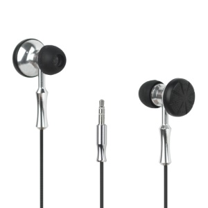 Plated Double Sided In-ear Headphone Earphone for Mobile Phones/MP3/MP4 etc - Silver Color