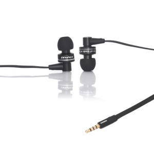 Awei Deep Bass In-ear Headphones with Mic for iPhone 4S 4 3GS ES900i - Black