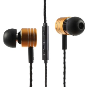 Gold Mosidun M3 3.5mm In-Ear Earbud Earphone with Mic & Remote for iPhone iPad Samsung HTC MP3 MP4