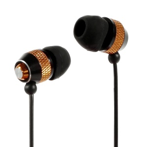 Wallytech WEA-081 Cheap Metallic In-Ear Earphone for iPhone iPod Samsung LG Sony HTC MP3 Etc - Gold / Black