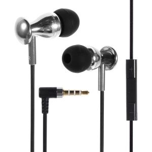 JBM MJ9600 In-ear Metal Stereo Headset w/ Remote & MIC for iPhone iPad Samsung HTC - Silver
