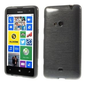 Grey Glossy Outer Brushed Inner TPU Case for Nokia Lumia 625